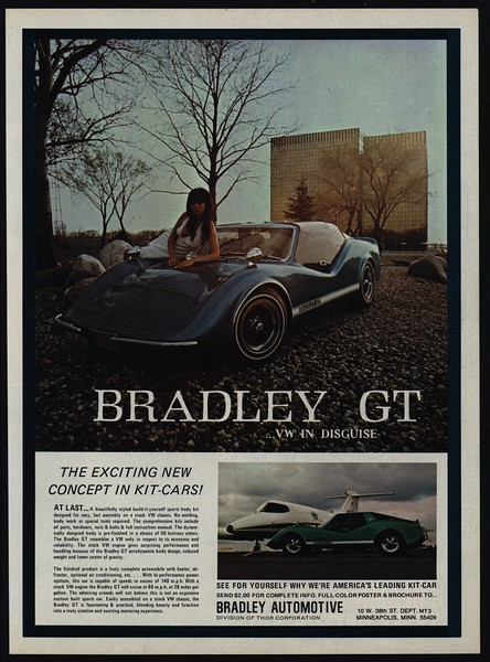 1972 Bradley Gt Kit Car Vw In Disguise Sexy Woman Lays On Hood